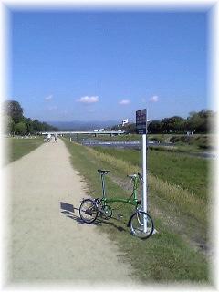 朝の京都自転車散歩