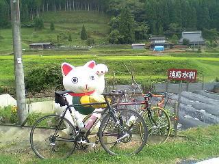 雨の美山サイクリング